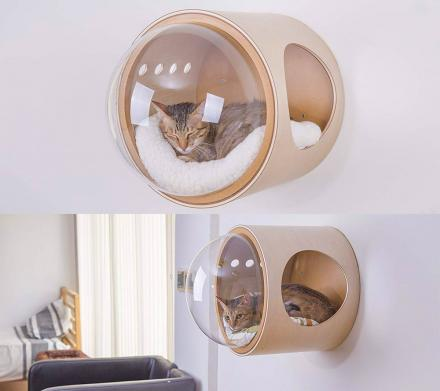 Wall-Mounted Bubble Window Cat Bed