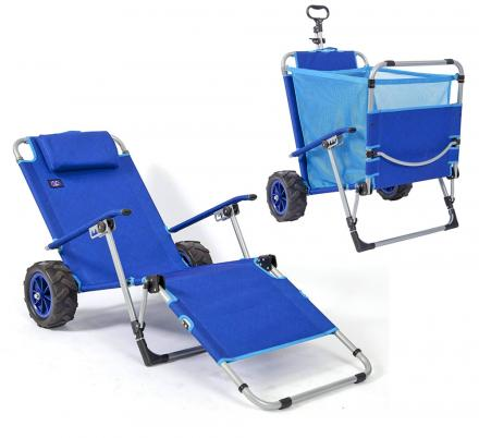 2-in-1 Beach Lounger Turns Into a Wagon For Easy Beach Trips