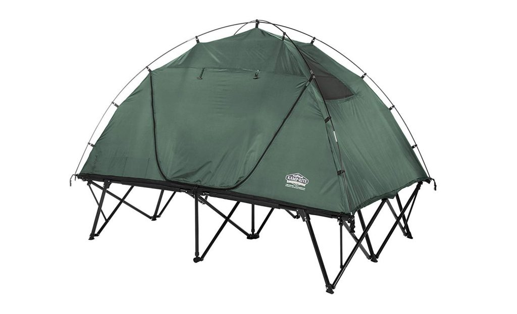 Compact double tent cot (Kamp-Rite) covered
