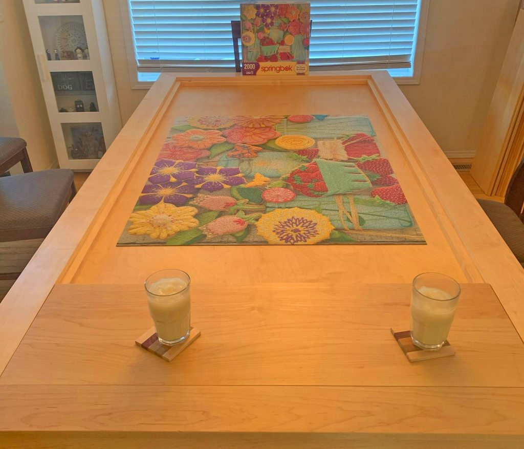 secret jigsaw puzzle custom dinner table