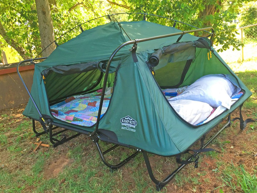 Double tent cot (Kamp-Rite) with mattress