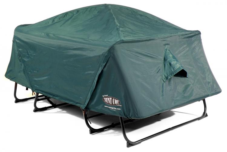 Double tent cot (Kamp-Rite) covered
