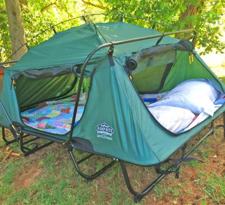 This Amazing Double Tent Cot Keeps You From Sleeping On The Cold Lumpy Hard Ground